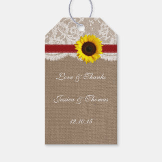 The Rustic Sunflower Wedding Collection - Red