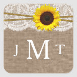 The Rustic Sunflower Wedding Collection Seals