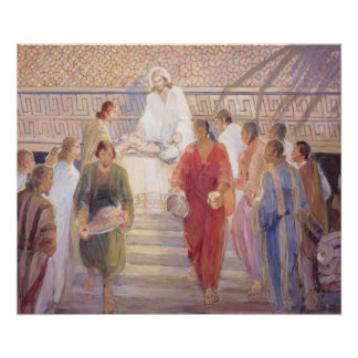 The Sacrament, 1950–51, Minerva Teichert (1888–197 Poster