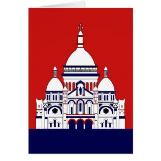 The Sacre Coeur, Montmartre, Paris, France Card