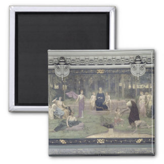 The Sacred Wood Square Magnet