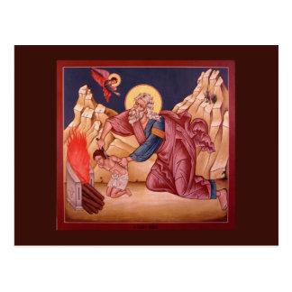 The Sacrifice of Abraham Prayer Card Postcard