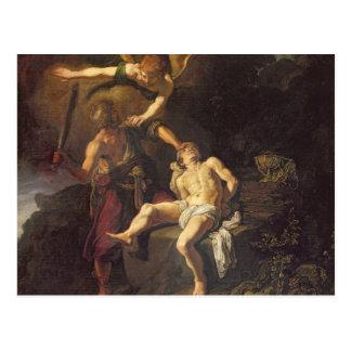 The Sacrifice of Isaac, 1616 Postcard