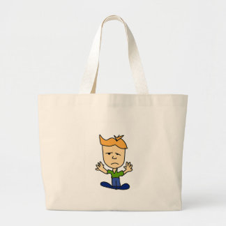 The sad boy large tote bag