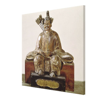 The Sadaijin in ceremonial costume Stretched Canvas Print