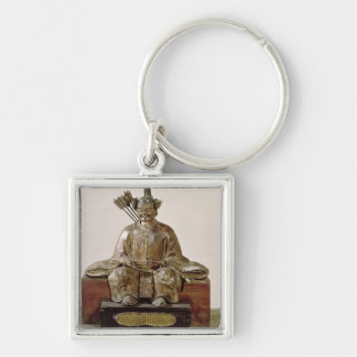 The Sadaijin in ceremonial costume Silver-Colored Square Key Ring