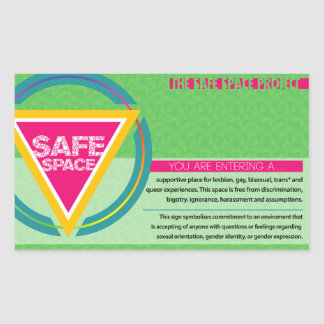 The Safe Space Project Rectangular Sticker