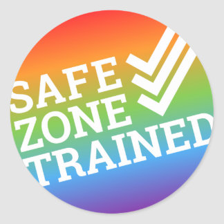 "The Safe Zone Project ""Trained"" Sticker"