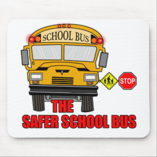 The safer school bus mouse pad