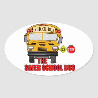 The safer school bus oval sticker