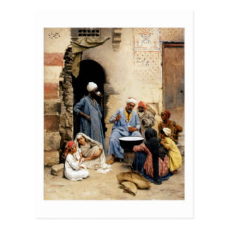 The sahleb vendor, Cairo postcard