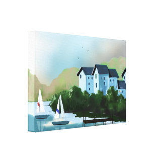 """The Sailboats"" Art on Canvas"