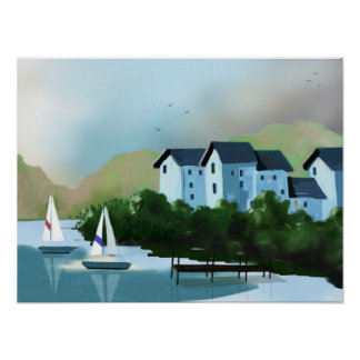 """The Sailboats"" Art Poster"