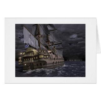 The Sailing Fortress Greeting Card