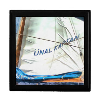 The Sails Of Unal Kaptan Large Square Gift Box