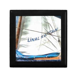 The Sails Of Unal Kaptan Small Square Gift Box