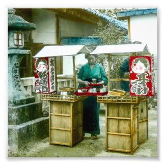 The Sake Seller in Old Rustic Japan Vintage Photographic Print