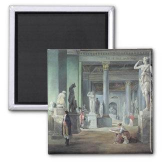 The Salle des Saisons at the Louvre, c. 1802 Square Magnet