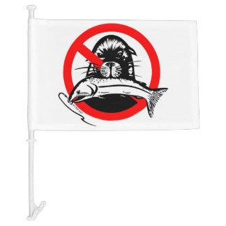 The Salmon Thief Car Flag