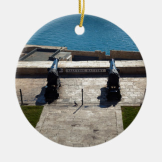 The saluting battery ceramic ornament