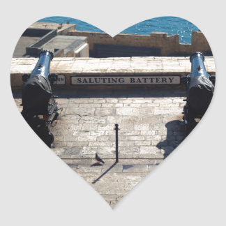 The saluting battery heart sticker