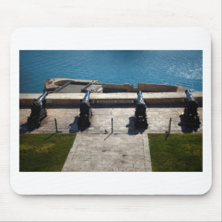 The saluting battery mouse pad