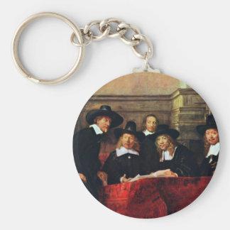 The Sampling Officials. By Rembrandt Van Rijn Key Ring