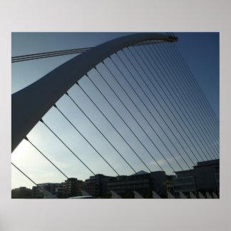 The Samuel Beckett Bridge, Dublin Poster
