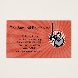 The Samurai Bakehouse Business card
