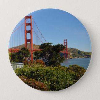 The San Francisco Golden Gate Bridge in California 10 Cm Round Badge