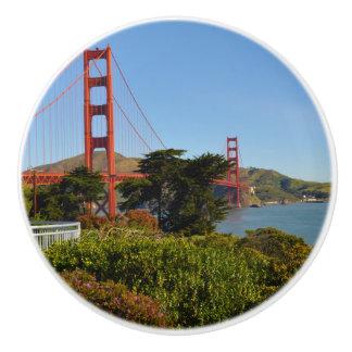 The San Francisco Golden Gate Bridge in California Ceramic Knob