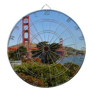 The San Francisco Golden Gate Bridge in California Dartboard