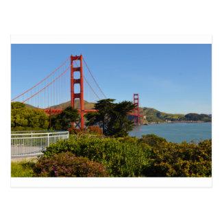 The San Francisco Golden Gate Bridge in California Postcard