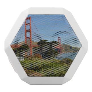 The San Francisco Golden Gate Bridge in California White Bluetooth Speaker