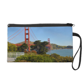 The San Francisco Golden Gate Bridge in California Wristlet