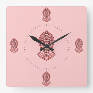 The Sandal Of The Prophet (Henna)(Red) Wall Clocks