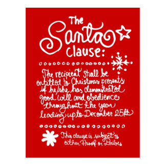 The SANTA Clause Red Postcard