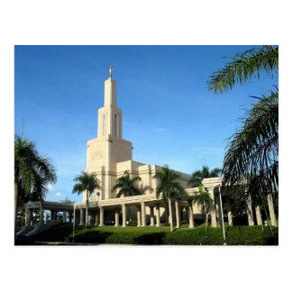 The Santo Domingo Dominican Republic LDS Temple Postcard
