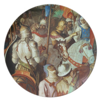The Saracen Army outside Paris, 730-32 AD Dinner Plate