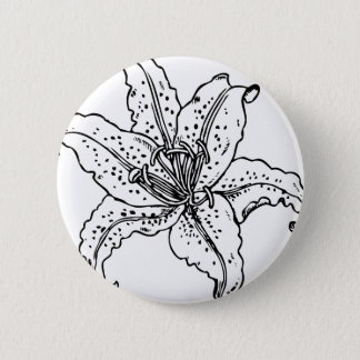 The Saskatchewan Lily project 6 Cm Round Badge