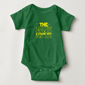 The Sass Is Strong With This One Baby Father Gifts Baby Bodysuit