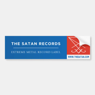 The Satan Records Bumper Sticker 1