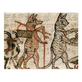 The Satirical Papyrus Postcard