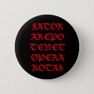 The Sator Square (Lucida blackletter) 6 Cm Round Badge
