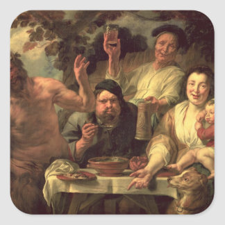 The Satyr and the Peasants Square Sticker