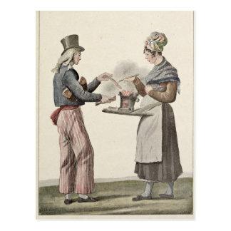 The Sausage Seller Postcard