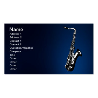 The Saxophone Business Card Templates
