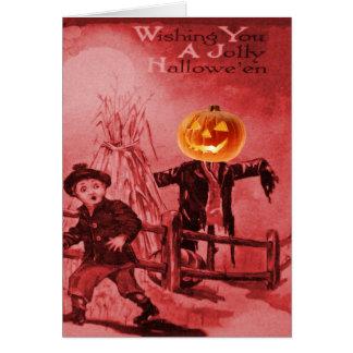 The Scarecrow Jack O Lantern Pumpkin Card