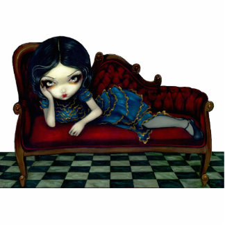 The Scarlet Sofa gothic victorian Photo Sculpture