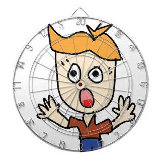 the scary boy cartoon dartboard